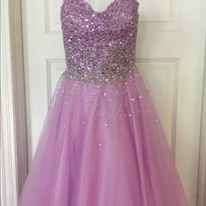 Mac Duggal lavender ball gown